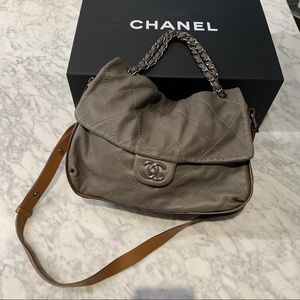 Chanel Grey Handbag Purse